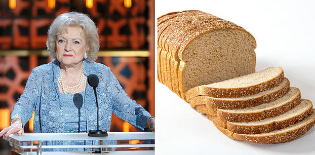 Betty White é mais velha que o pão de forma
