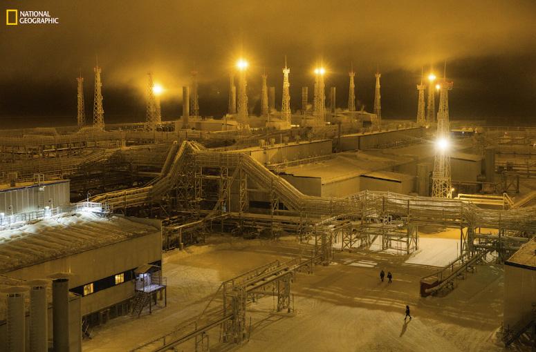 Fábrica de gás no Ártico