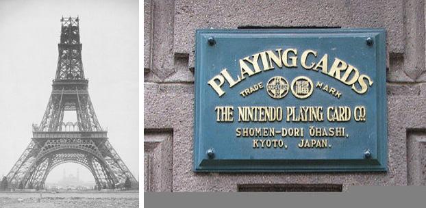 A Torre Eiffel foi inaugurada no mesmo ano que a empresa Nitendo