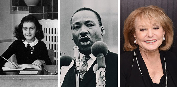 Anne Frank, Martin Luther King, Jr. y Barbara Walters nasceram no mesmo an