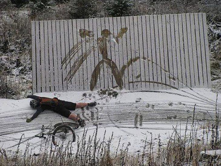 Assim nascem os anjos na neve