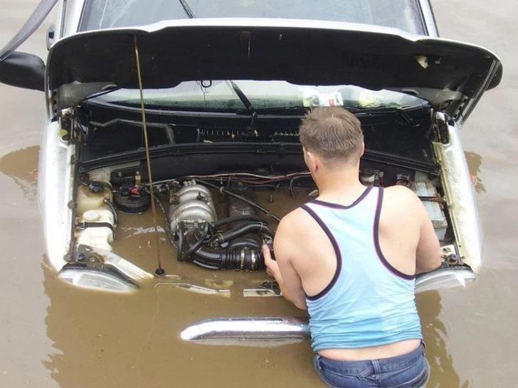 Com razão meu carro não arranca...