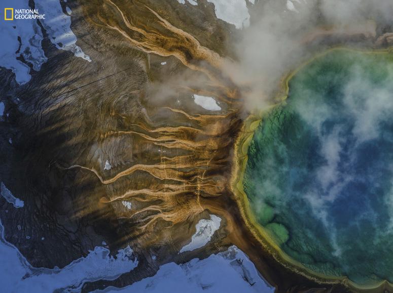 A primavera prismática de Yellowstone