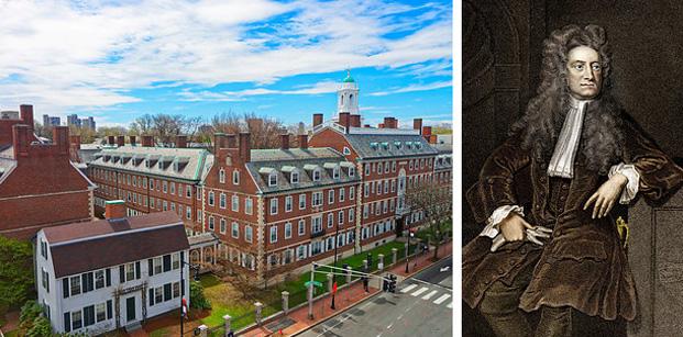 A Universidade de Harvard foi fundada antes de Isaac Newton publicasse suas leis do movimento e da gravidade