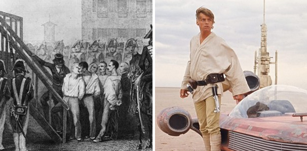 Quando saiu o primeiro filme de Star Wars, França ainda executava pessoas com guilhotina