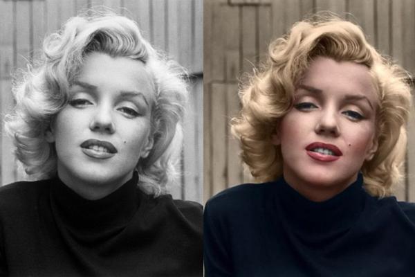 Marilyn Monroe é linda com ou sem cor!