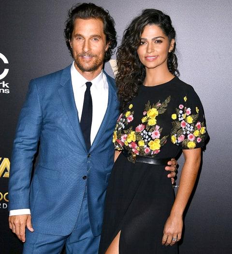 Matthew McConaughey (47) e Camila Alves (35)