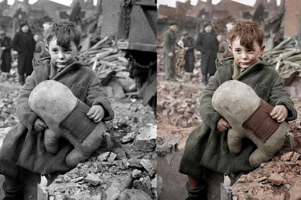 Uma foto fofa da Segunda Guerra Mundial