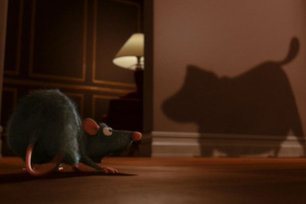 O cachorro de Up aparece en Ratatouille