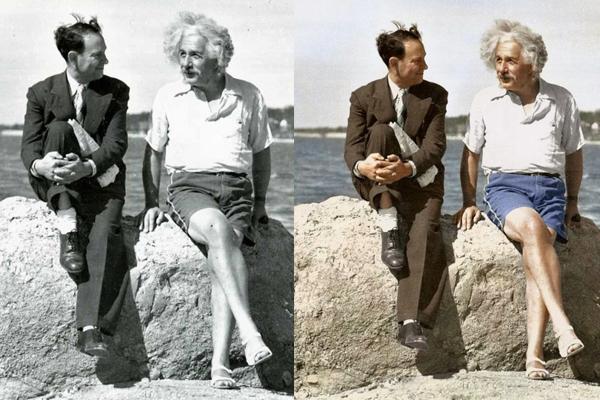 O gênio Einstein em uma de suas fotos mais famosas
