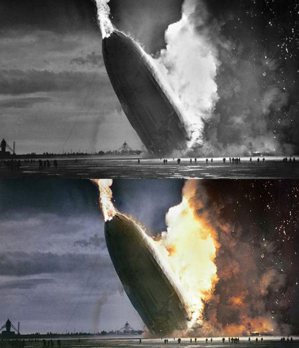 A foto histórica de Hindenburg
