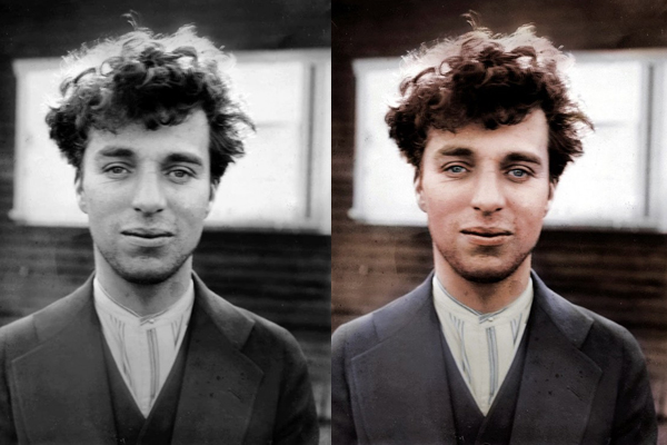 Charles Chaplin fora do personagem