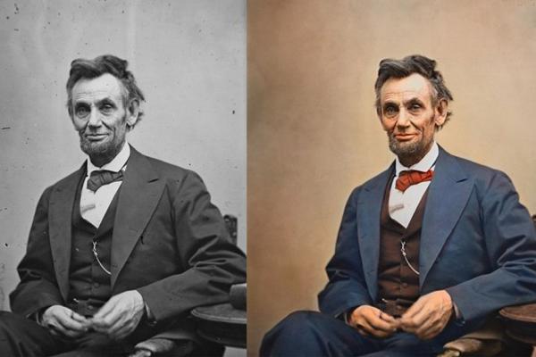 Abraham Lincoln numa das suas últimas fotos