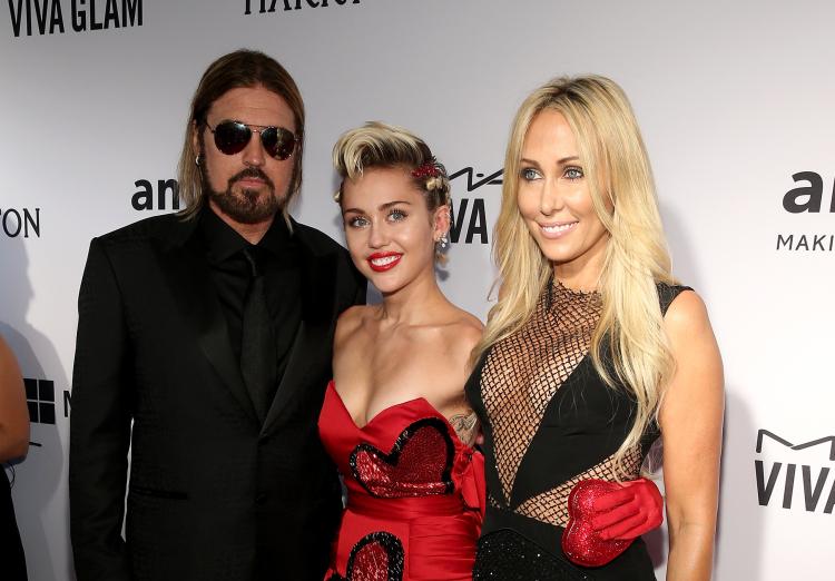 Miley Cyrus e sua mãe Tish