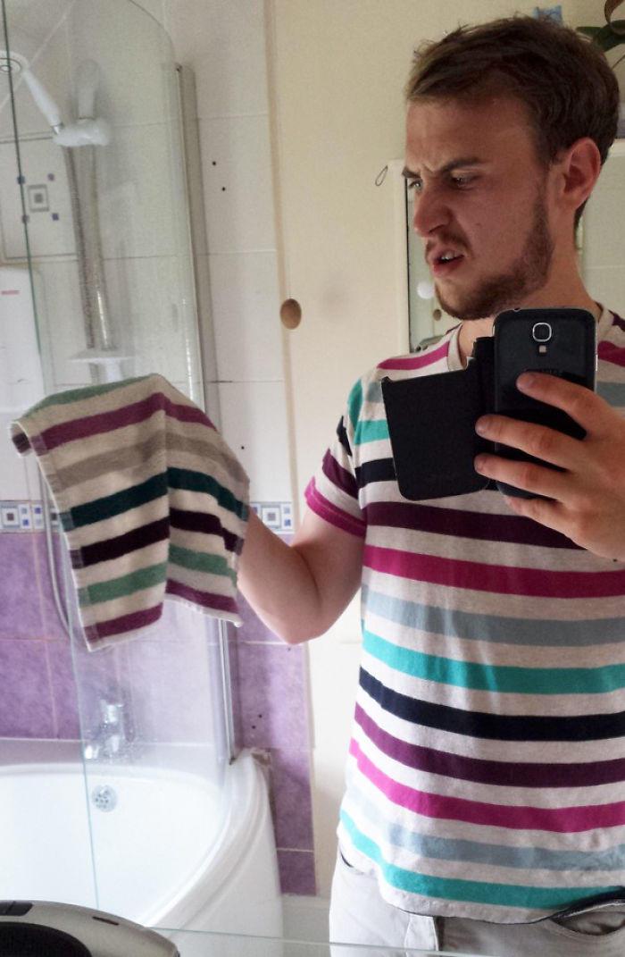 Hoje quero me vestir como uma toalha de banho!