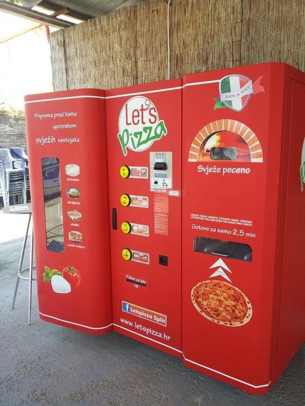 Máquina para fazer pizzas em alguns segundos