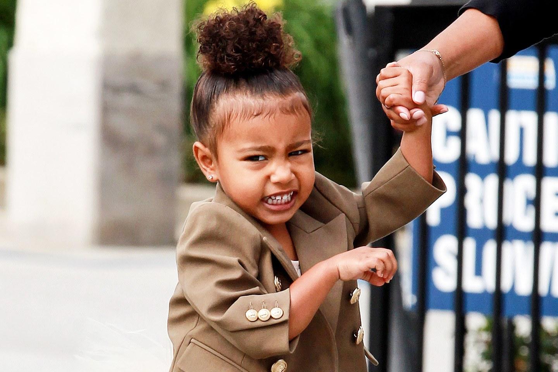 A filha de Kim Kardashian e Kanye West é