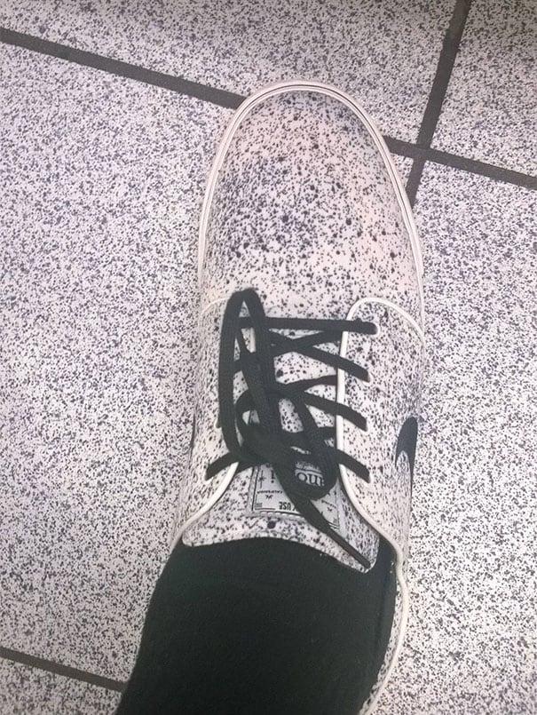 Que criativos os designers da Nike! Inspirados pelo chão