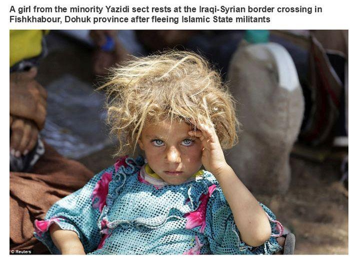 O olhar intenso e sério de uma menina que não pediu para nascer na guerra