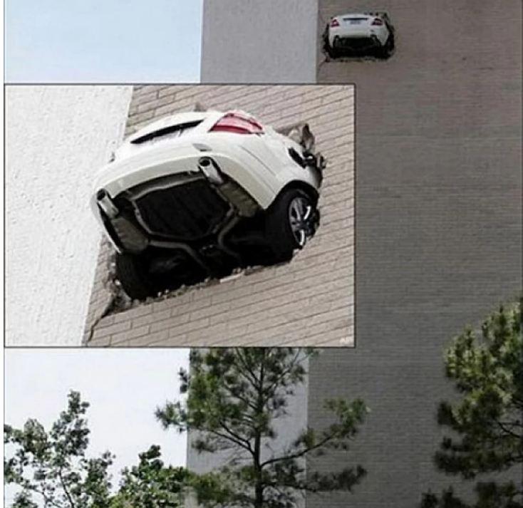 Como esse carro foi parar aí?