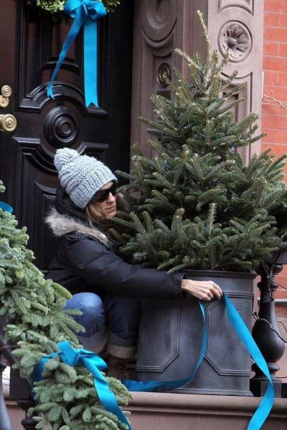 Sarah Jessica Parker decora sua casa para o Natal