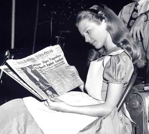 Kathryn Beaumont inspirou o personagem de Alice no País das Maravilhas