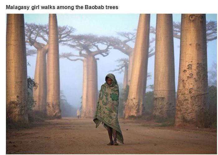 Uma linda menina de Madagascar
