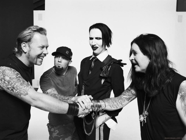 James Hetfield, Fred Durst, Marilyn Manson & Ozzy Osbourne