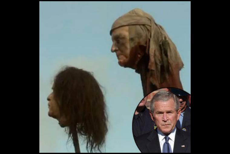 Ele não é um personagem como tal, mas George Bush esteve na série
