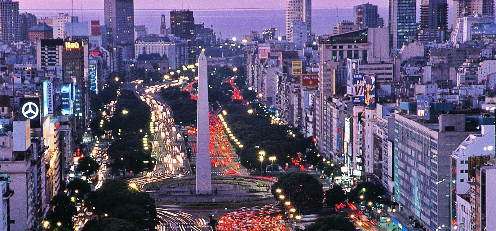 O Obelisco de Buenos Aires hoje
