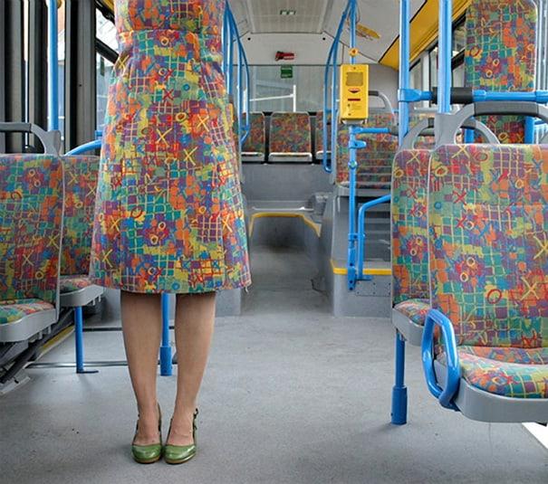 Prefiro ser mais exclusivo e me vestir como um ônibus!