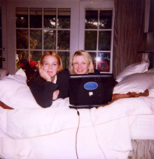 Drew Barrymore e a ex de Kurt Cobain, Courtney Love