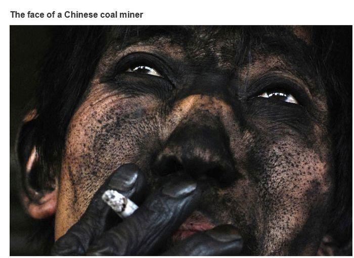 Esses são os mineiros de carvão na China