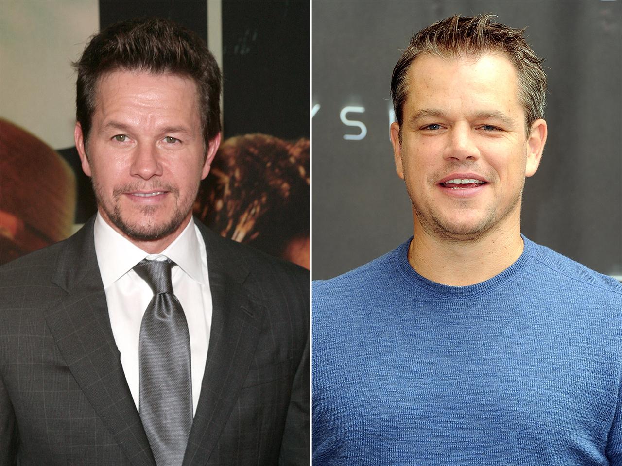 Mark Wahlberg e Matt Damon são confididos por pessoas de Hollywood