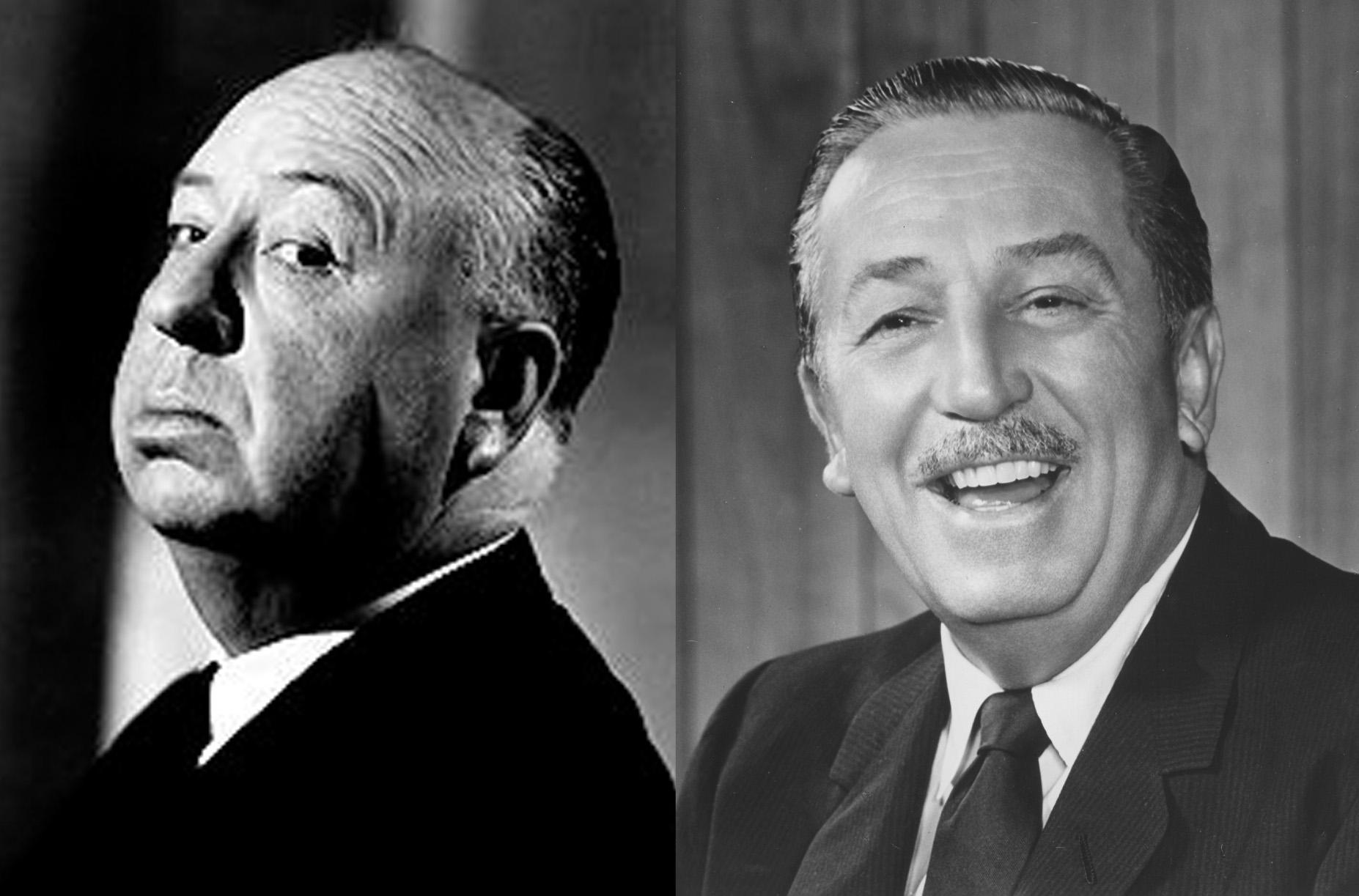 Walt Disney não se dava bem com Alfred Hitchcock
