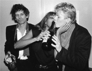 Keith Richards (The Rolling Stones), Tina Turner e David Bowie