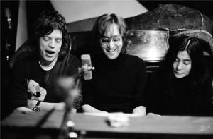 Mick Jagger, John Lennon e Yoko Ono
