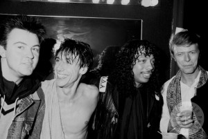 Paul Young, Iggy Pop, Rick James e David Bowie