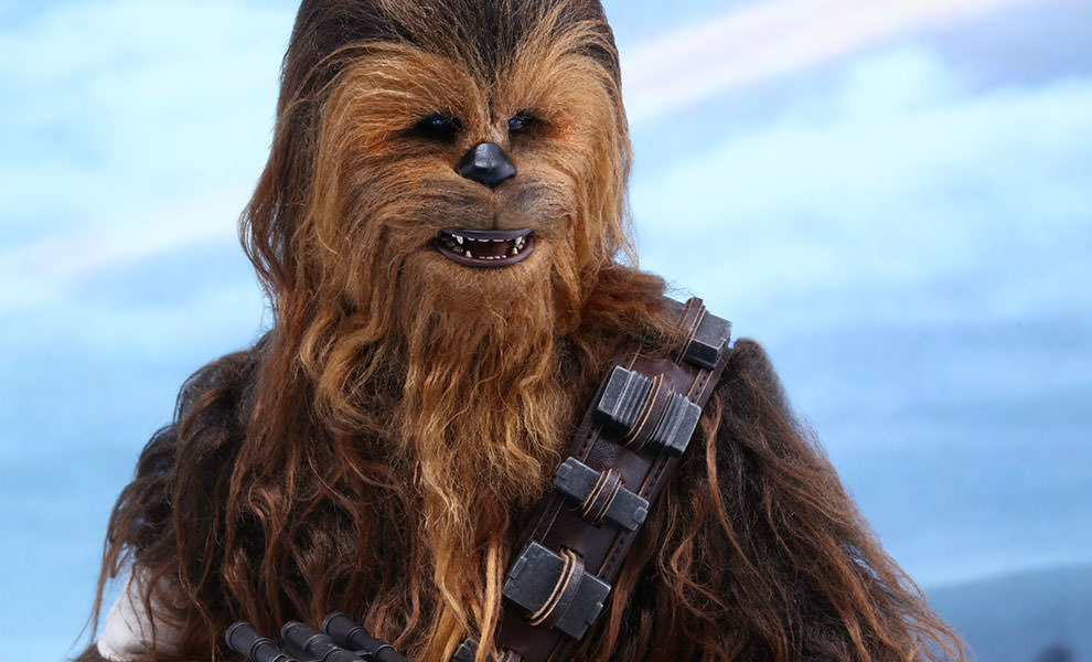 Os trajes peludos de Wookie eram cabelo humano