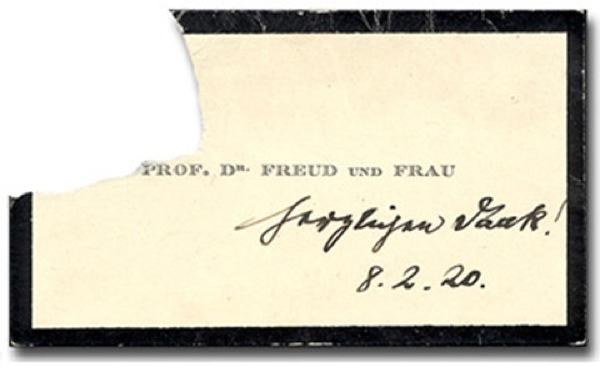 O cartão Sigmund Freud