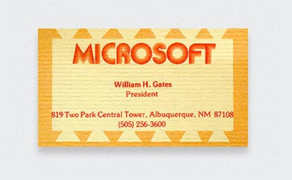 O cartão de Bill Gates