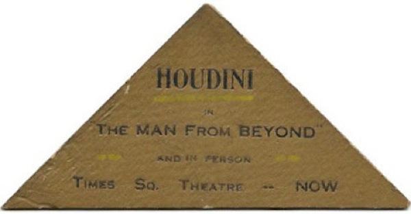 O cartão do mago Houdini
