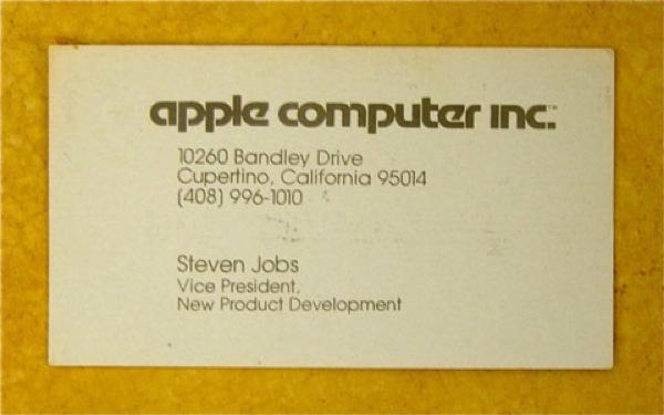 O simples cartão de Steve Jobs