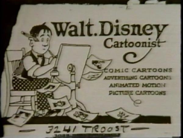 Cartão de Walt Disney