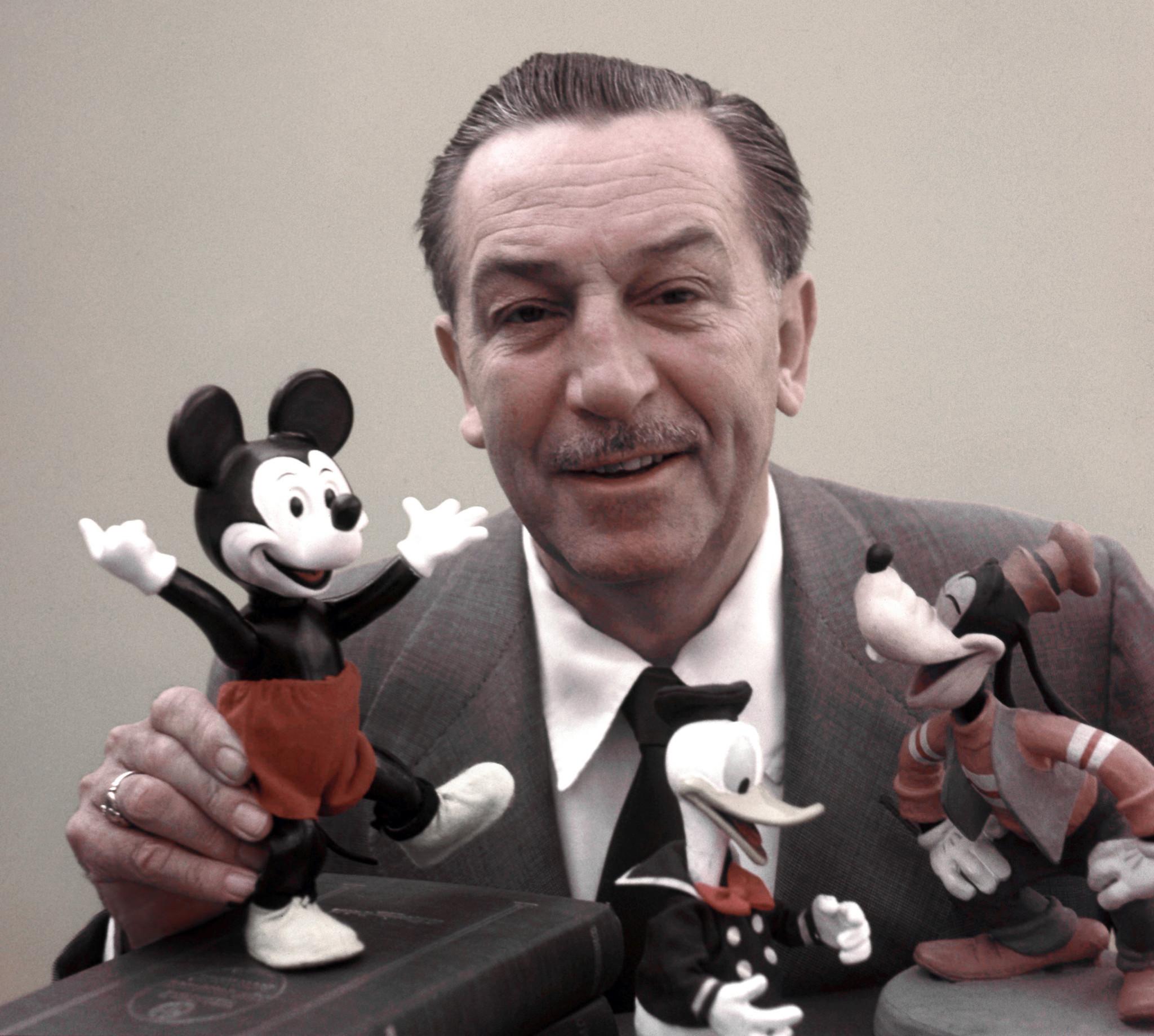 Walt Disney fez a voz de Mickey por muitos anos