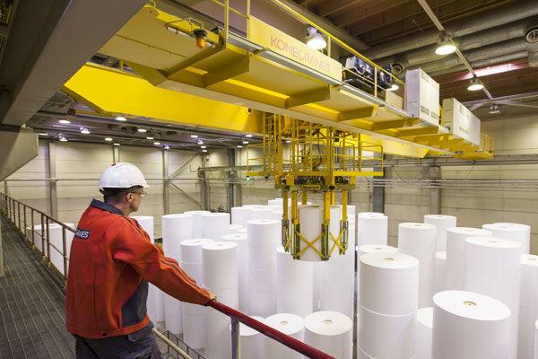 A indústria de papel
