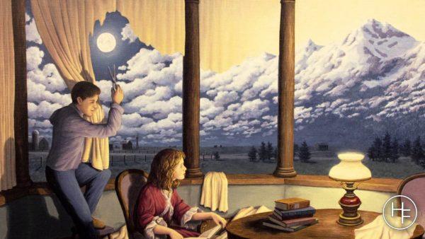 A cortina, as nuvens ou a montanha?