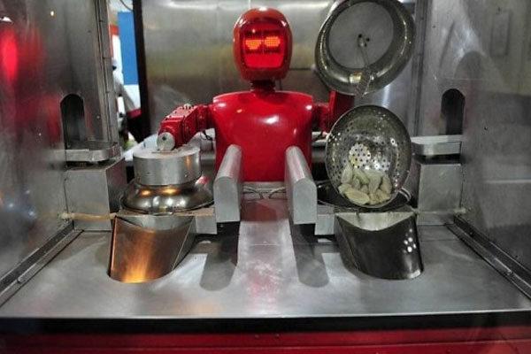 Comida preparada por robôs