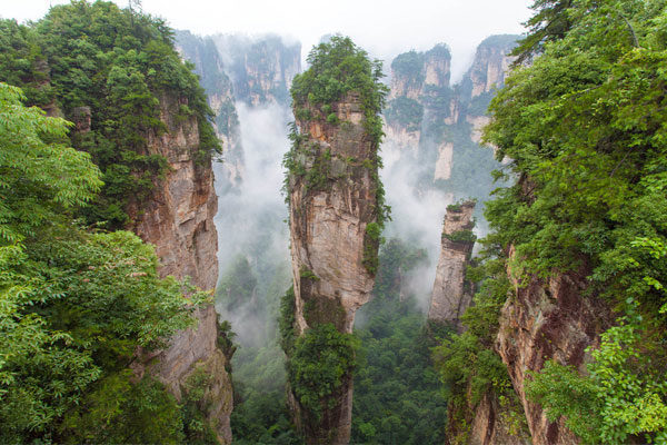 O Parque Forestal Nacional Zhangjiajie, na China