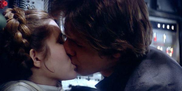 O beijo de Han Solo e Princesa Leia